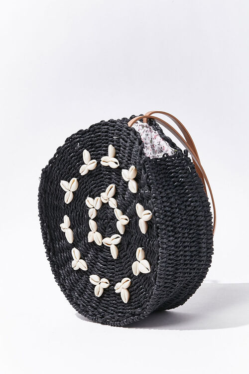 Cowrie Shell Straw Tote Bag, image 1