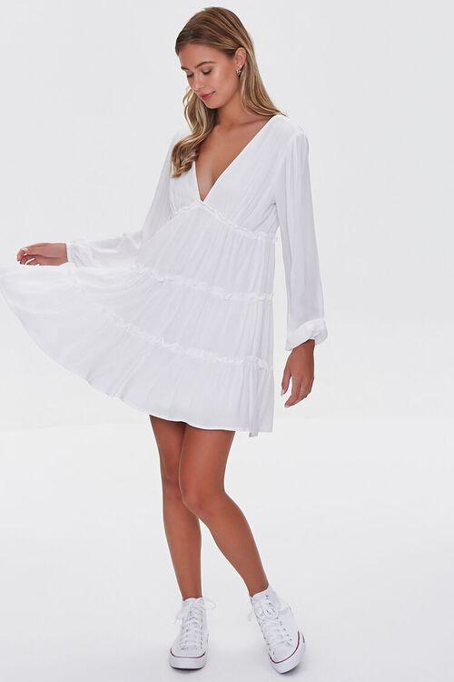 IVORY Ruffle-Trim Mini Dress, image 4