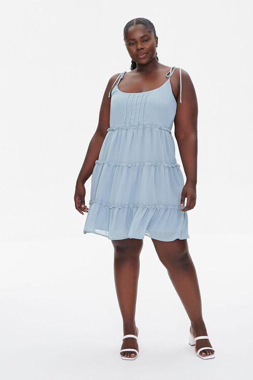 Plus Size Chiffon Cami Dress, image 4