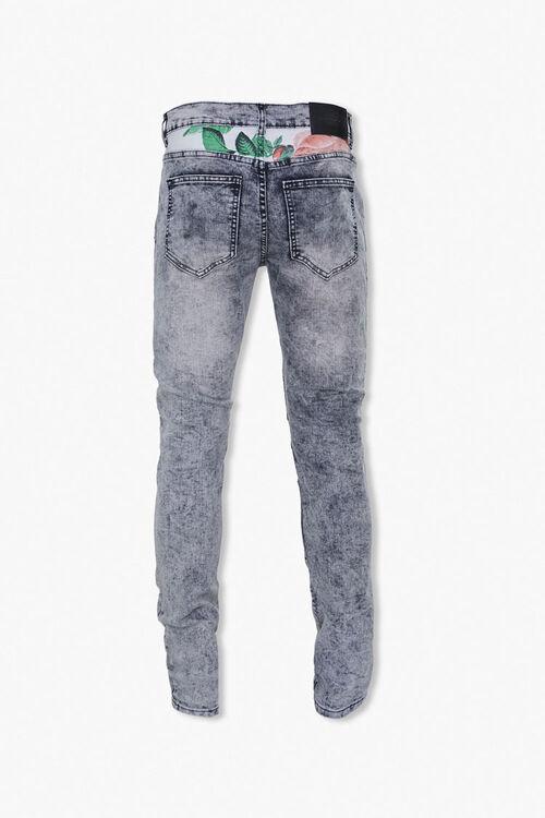 Reason Leaf-Print Yoke Moto Jeans, image 3