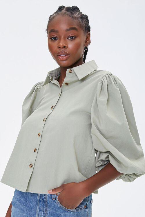 Balloon-Sleeve Shirt, image 1