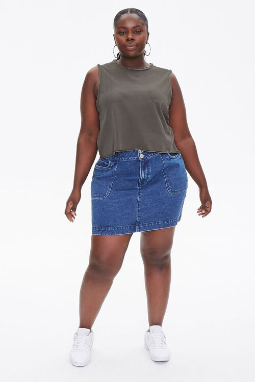 Plus Size Raw-Cut Muscle Tee, image 4