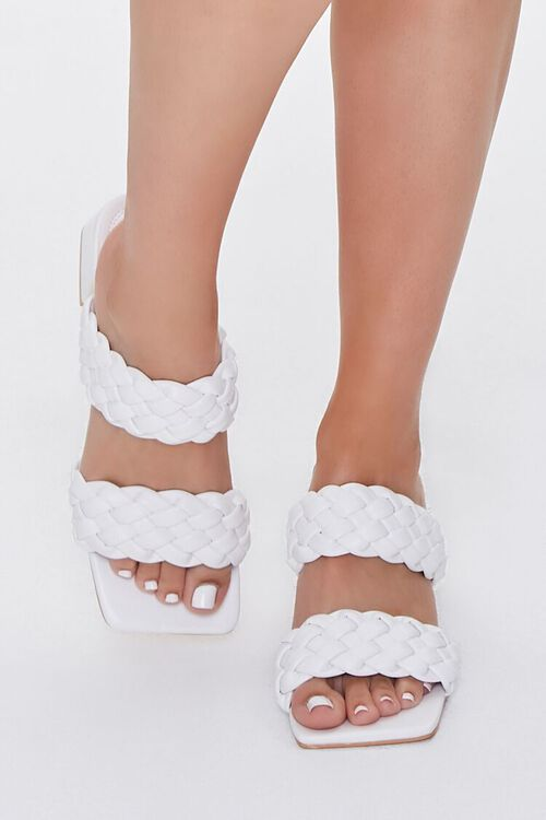 Braided Square-Toe Block Heels, image 4