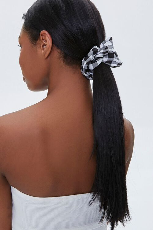 Plaid Ruched Scrunchie, image 1