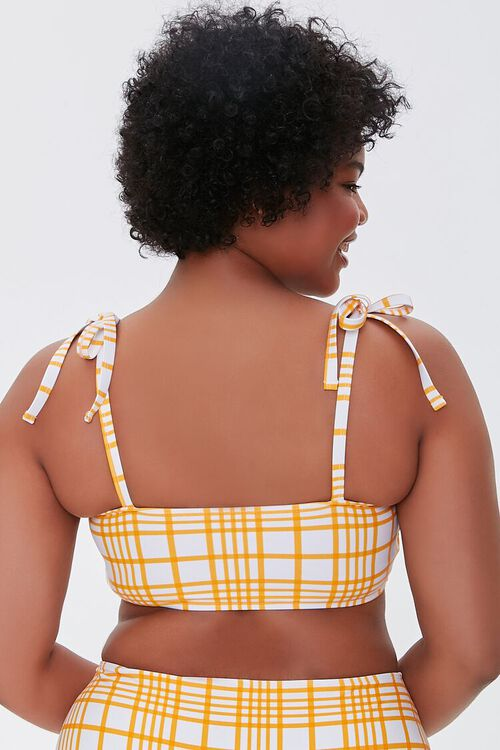 Plus Size Plaid Bikini Top, image 4