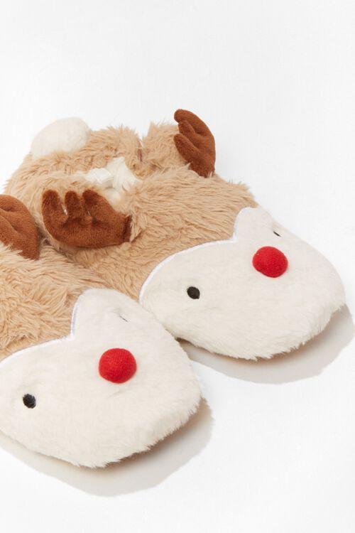 Plush Reindeer Slippers, image 4