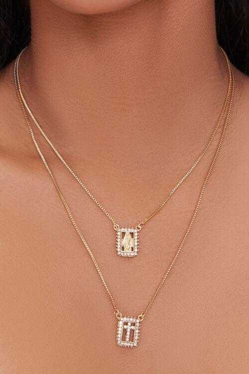 Cross Pendant Layered Necklace, image 1