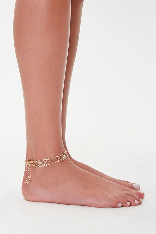Figaro Chain Anklet Set, image 3