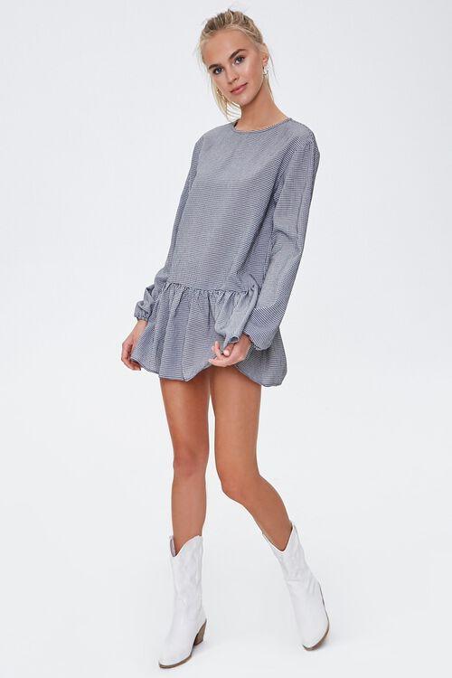Gingham Peasant Mini Dress, image 4