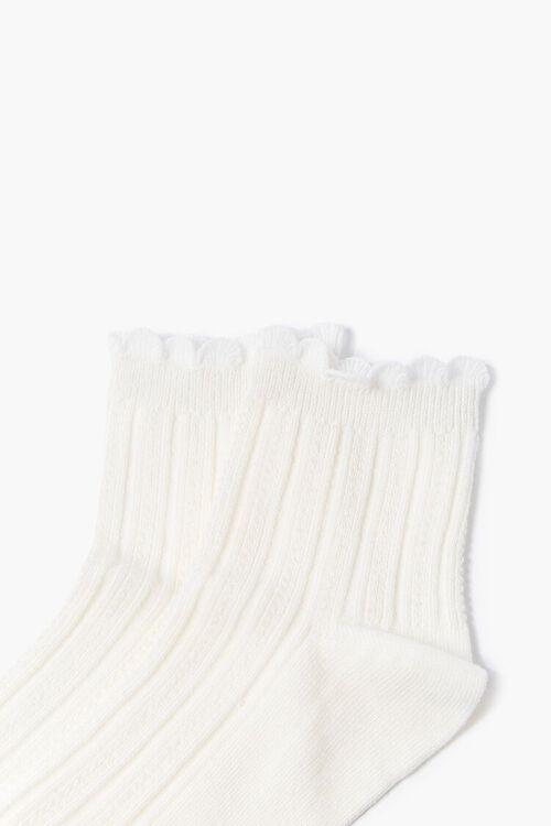 Scalloped-Trim Crew Socks, image 3