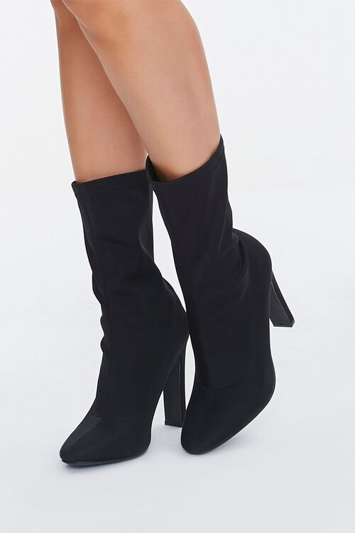 Faux Suede Slouchy Booties, image 1