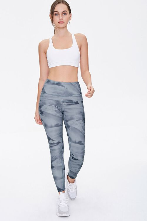 Active Abstract Print Leggings, image 1