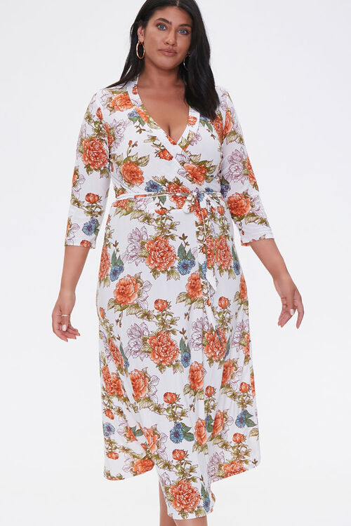 Plus Size Floral Print Dress, image 1