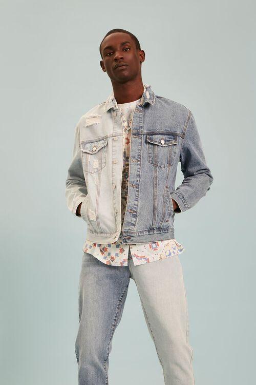 Colorblock Denim Jacket, image 6