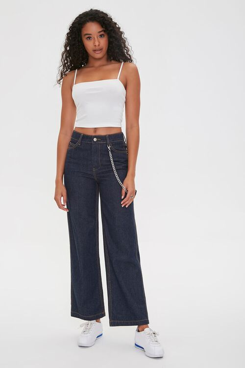 WHITE Straight-Neck Cropped Cami, image 4