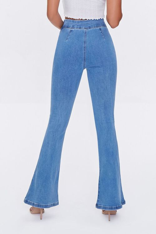 Lace-Up Flare Jeans, image 4