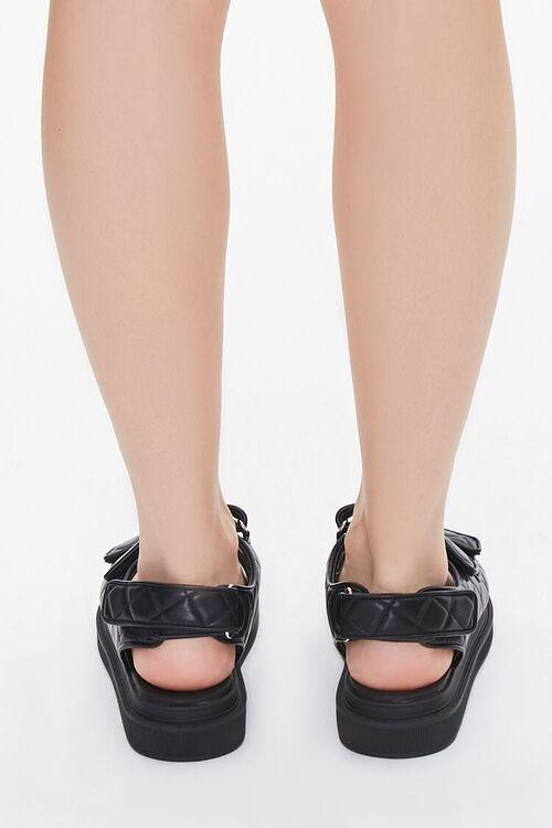 Buckled Quilted Platform Sandals, image 3