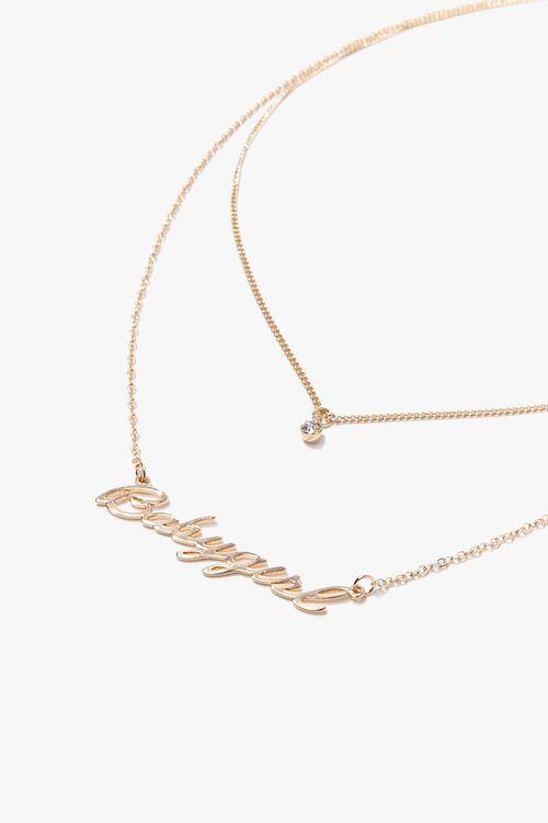 Babygirl Pendant Layered Necklace, image 1
