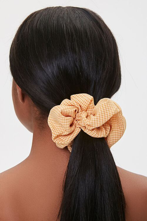 Gingham Hair Scrunchie, image 1
