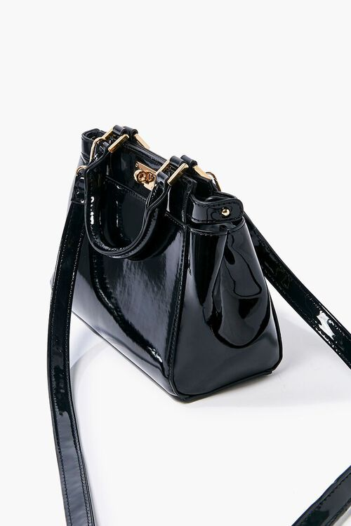 Faux Patent Leather Crossbody Bag, image 2