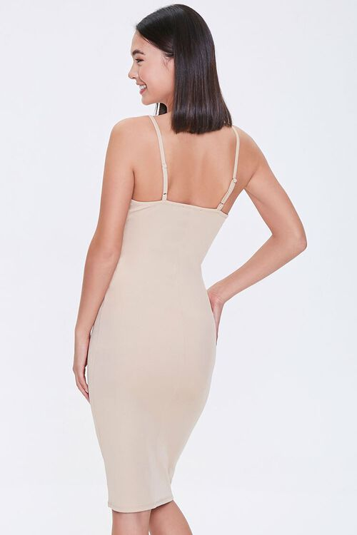 TAUPE Bustier Bodycon Mini Dress, image 3