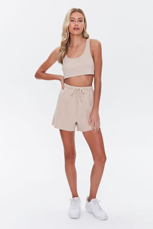 Cropped Tank Top & Shorts Set, image 4