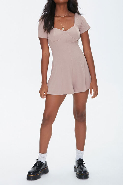 Ribbed Bustier Romper, image 4