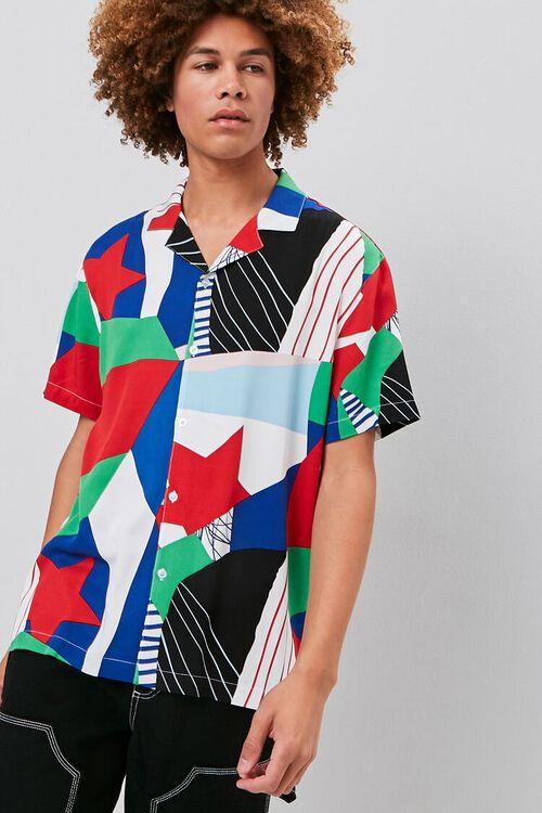 GREY/MULTI Classic Fit Patternblock Shirt, image 1
