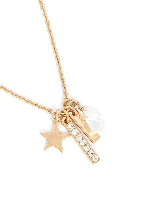 Star & Bar Charm Chain Necklace, image 3