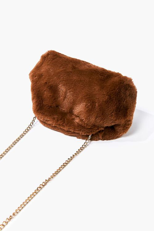 Plush Curb-Chain Shoulder Bag, image 3