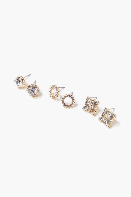 Faux Gem Stud Earrings, image 1