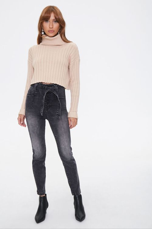 Belted High-Rise Jeans, image 4