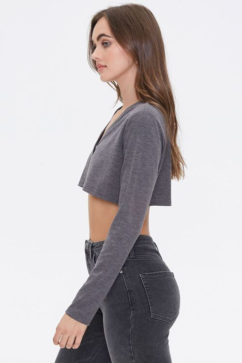 Button-Front Crop Top, image 2