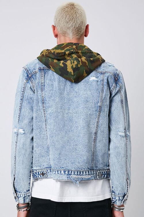 Camo Hooded Sunbleached Denim Jacket, image 3