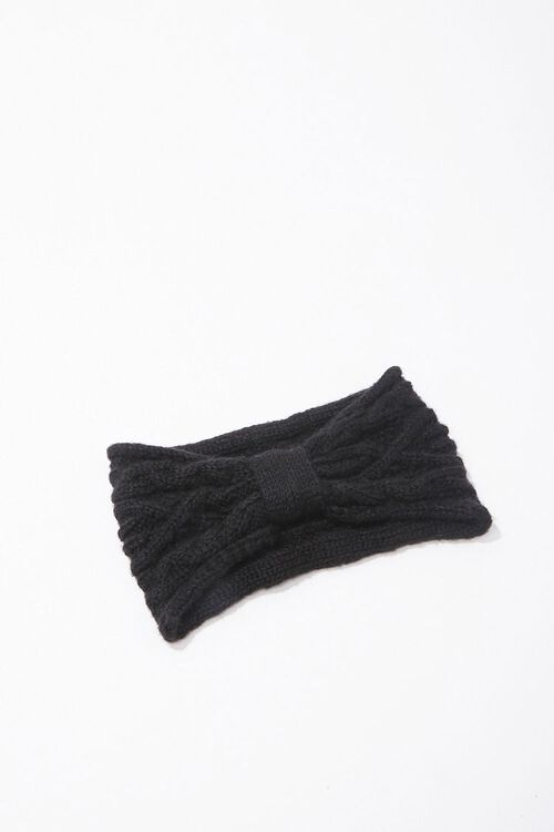 Cable-Knit Bow Headwrap, image 3
