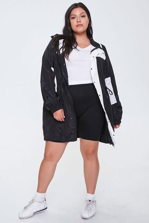 Plus Size Colorblock Utility Jacket, image 4