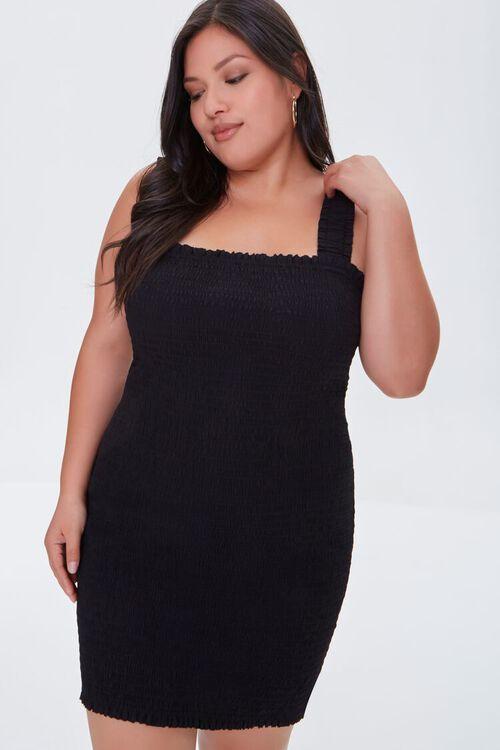 Plus Size Smocked Bodycon Dress, image 1