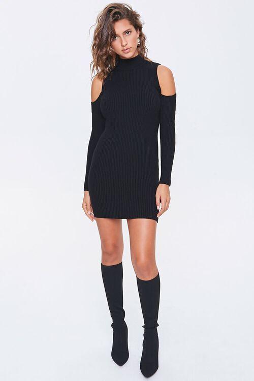 Open-Shoulder Sweater Dress, image 4