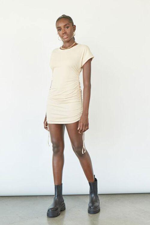 Drawstring T-Shirt Dress, image 1