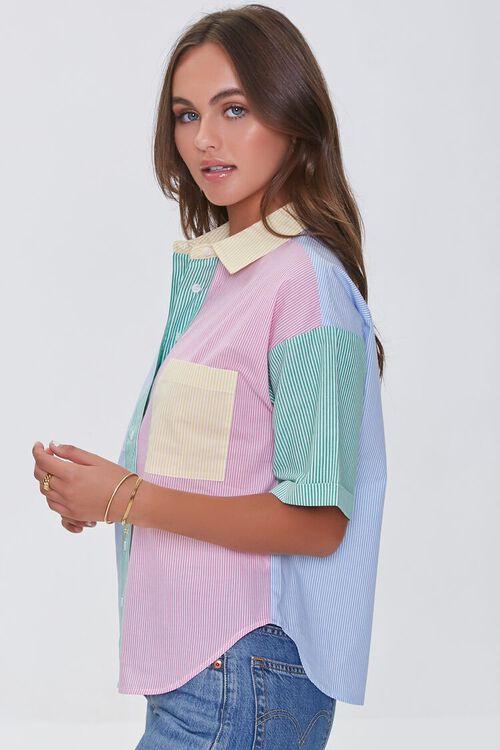BLUE/MULTI Colorblock Pinstriped Shirt, image 2