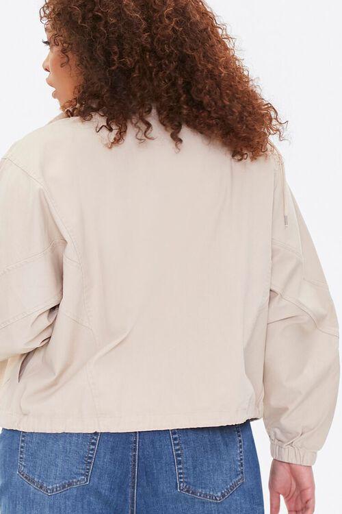 Plus Size Drawstring-Hem Jacket, image 4