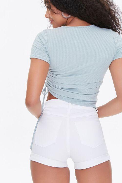Curvy Denim Shorts, image 4