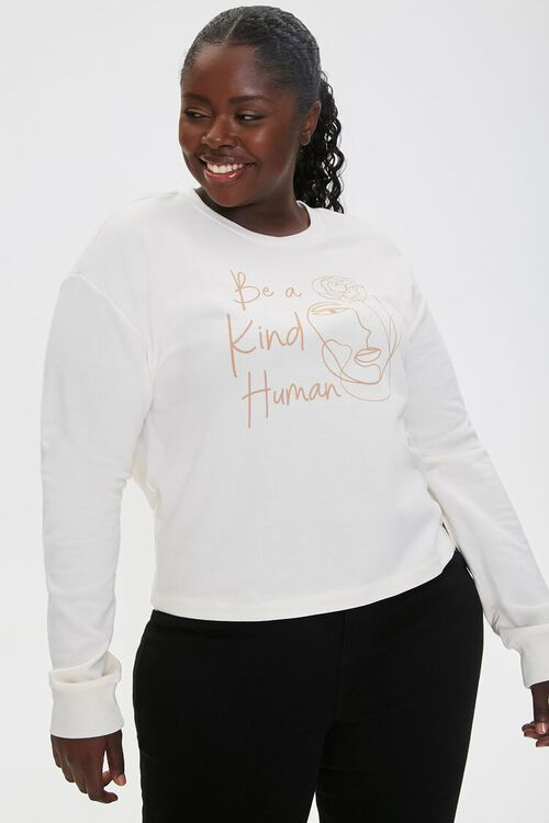 Plus Size Be Kind Graphic Pullover, image 1
