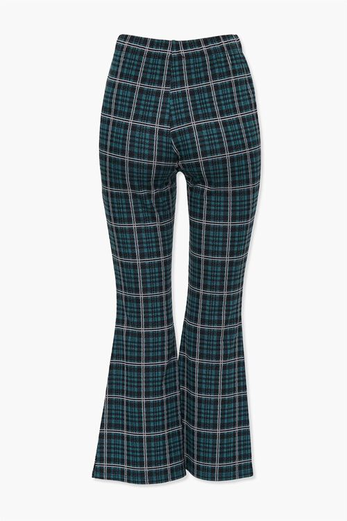 HUNTER GREEN/MULTI Plaid Flare Ankle Pants, image 3