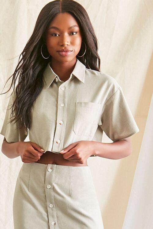 Linen-Blend Shirt & Skirt Set, image 5