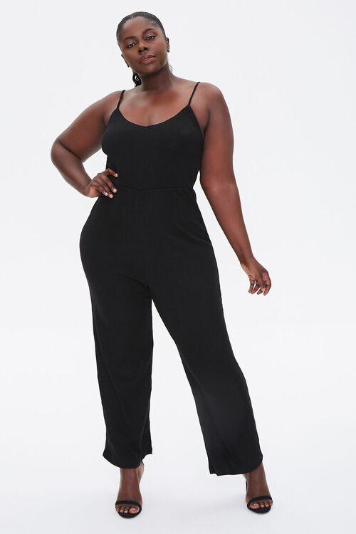 Plus Size Straight-Leg Cami Jumpsuit, image 1