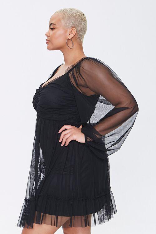 Plus Size Mesh Sweetheart Dress, image 2