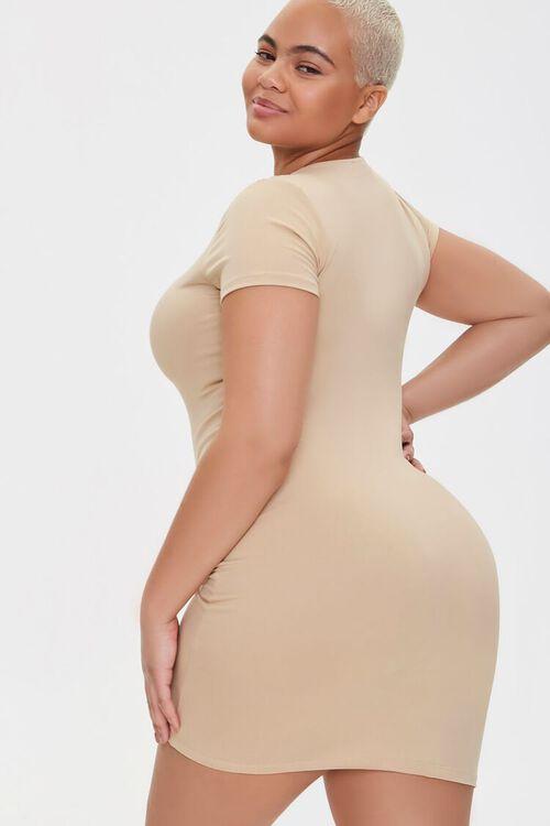 Plus Size T-Shirt Bodycon Dress, image 3