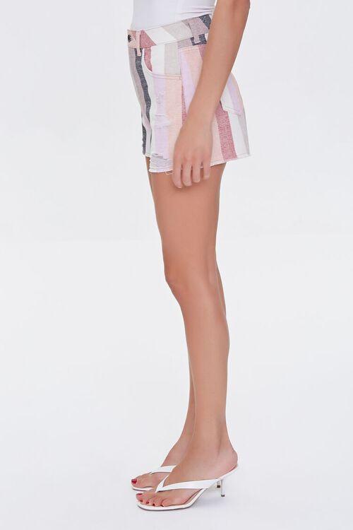 Striped Denim Shorts, image 3