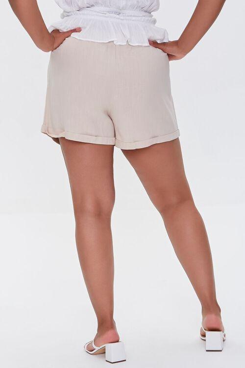 Plus Size Smocked Shorts, image 4
